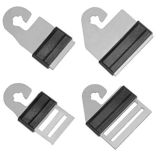 Spojka na pásku Litzclip ke vchodu, nerez, 4 ks - na 10 - 20 mm pásky Spojka na pásku Litzclip ke vchodu, nerez, 4 ks