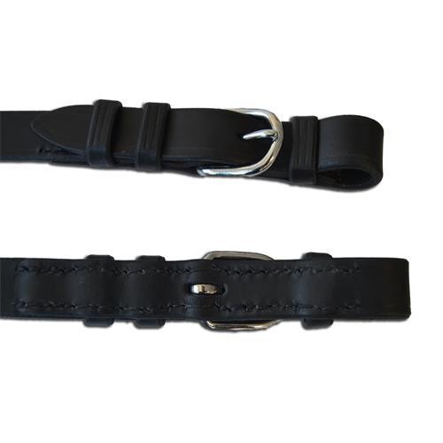 Plátěné otěže, ručně šité, 2,5 cm - černé Otěže plátěné, ručně šité, černé, 2,5cm