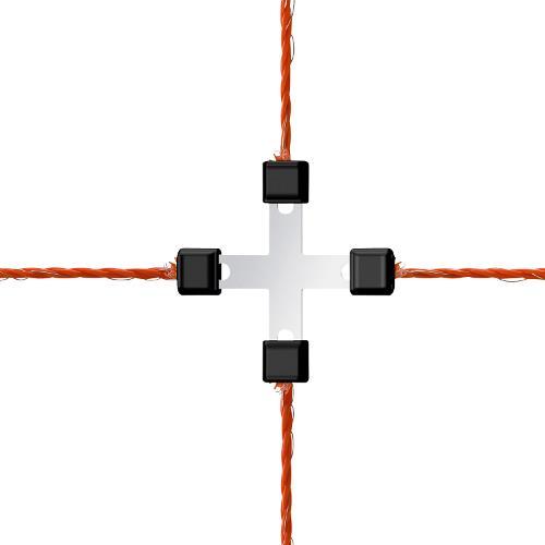 Spojka na lanko Litzclip® do 3 mm - kříž, 5 ks Spojka na lanko Litzclip® do 3 mm - kříž, 5 ks