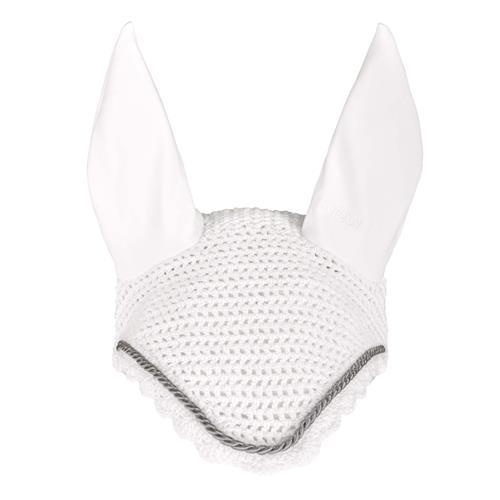 Čabraka na uši Eskadron Cotton, se stříbrným lemem - bílá, vel. Full Čabraka Eskadron Cotton, stříbrný lem, bílá