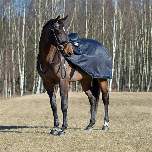 Bederní nepromokavá deka Horze Supreme Avalanche, černá - vel. 125 cm - Pony Deka bederní Supreme Avalanche, neprom., vel. Pony