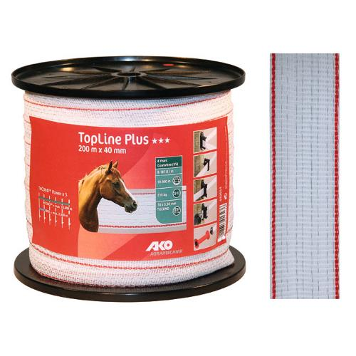 Polyetylenová páska pro elektrické ohradníky TopLine Plus 40 mm Polyetylenová páska pro elektrické ohradníky TopLine Plus 40 mm