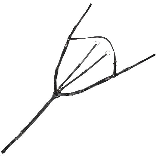 Kožený poprsník Mons Kentaur, černý - vel. Cob Poprsník Mons Kentaur, černý, vel. Cob