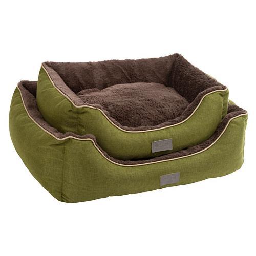 Pelíšek pro psy nebo kočky Samuel, zelený - 60 x 50 x 17 cm Pelíšek pro psa a kočku Samuel, zelený, 60x50x17 cm