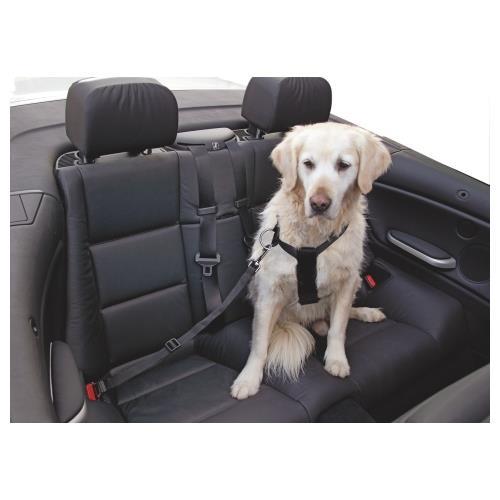 Bezpečnostní pás pro psa do auta - 30 - 60 cm, černý Bezpečnostní pás pro psa do auta