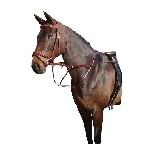 Kožený martingal Harrys Horse - hnědý, vel. Full Martingal, FULL, hnědý