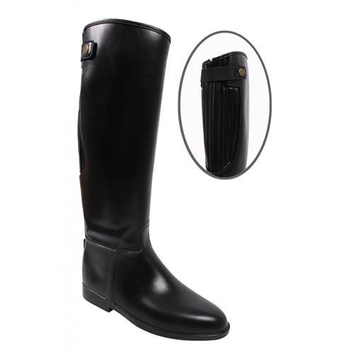 Gumové jezdecké boty se zipem QHP, černé - vel. 30 Boty jezdecké  gumové se zipem