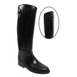 Gumové jezdecké boty se zipem QHP, černé - vel. 32