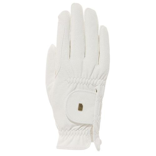 Jezdecké rukavice Roeckl Roeck-Grip, bílé - vel. 7 Rukavice jezdecké Roeckl, Roeck-Grip, bílé