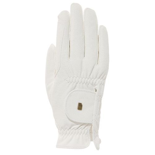 Jezdecké rukavice Roeckl Roeck-Grip, bílé - vel. 9 Rukavice jezdecké Roeckl, Roeck-Grip, bílé