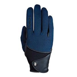 Jezdecké rukavice Roeckl Madison, modro-černé - vel. 7