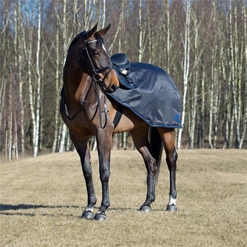 Bederní nepromokavá deka Horze Supreme Avalanche, černá - vel. 145 cm - Full Deka bederní Supreme Avalanche, neprom., vel. Pony