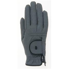 Jezdecké rukavice Roeckl Roeck Grip, antracitové - vel. 7,5
