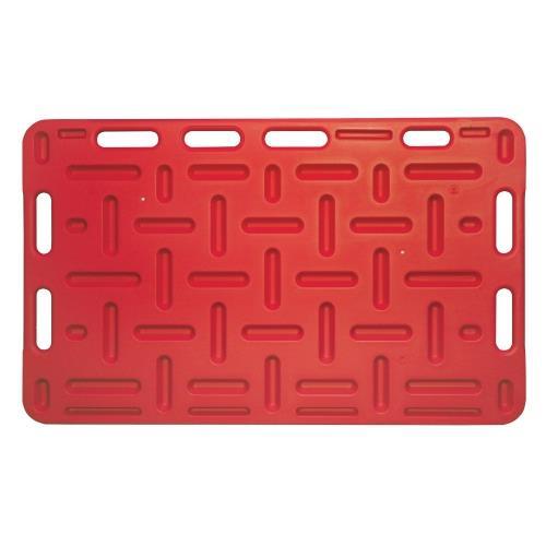 Naháňka pro prasata plastová, červená - 126 x 76 cm Naháňka pro prasata plastová, červená