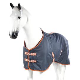 Odpocovací deka Horze Spirit, fleecová s nylonem, modrá - vel. 125/175 cm