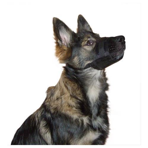 Fixační nylonový náhubek pro psa, černý - 20-26 cm Náhubek pro psa, nylon
