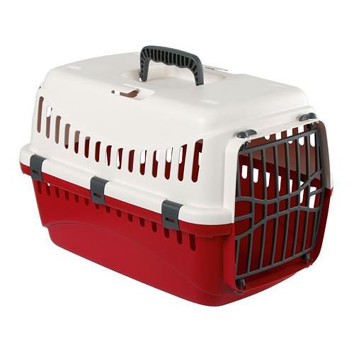Transportní box pro psy a kočky Expedion, 48x32x31 cm - krémová/červená Box tran. Expedion, červená, 48x32x31 cm, max. 10kg