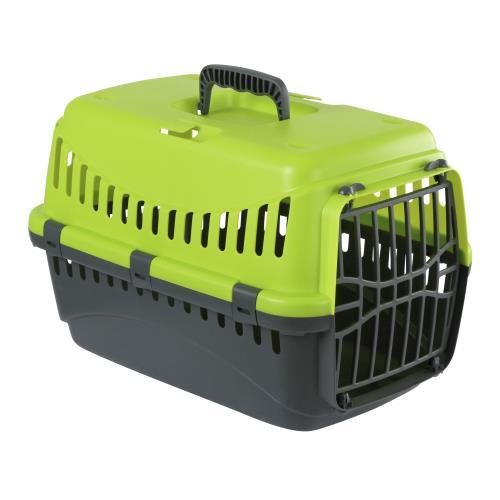 Transportní box pro psy a kočky Expedion, 48x32x31 cm - zelená/tmavě šedá Přepravní box pro psy a kočky Expedion