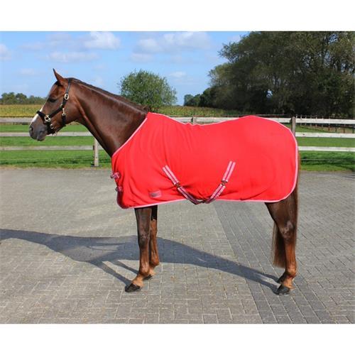 Odpocovací deka QHP, červená - vel. 135/185 cm Deka odpocovací QHP, červená