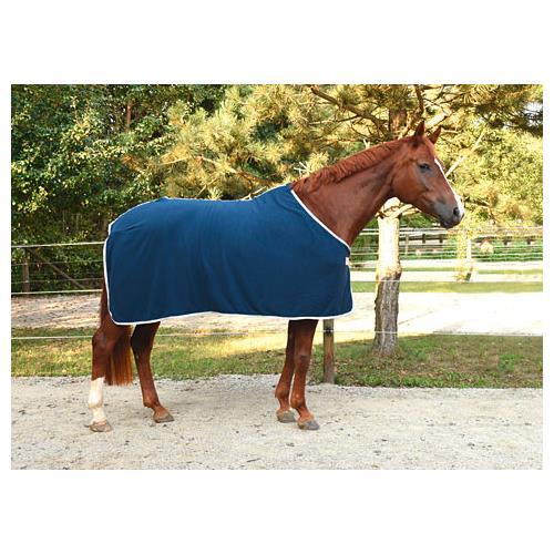Odpocovací deka Kerbl Economic, modrá s šedým lemem - modrá, vel. 125cm Deka odpoc. Rugbe Economic, modrá, vel. 125cm