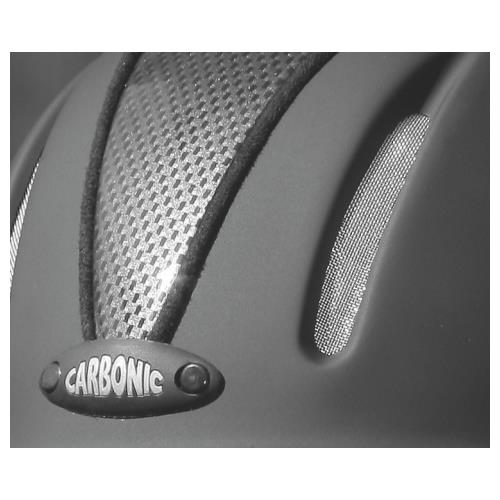 Jezdecká bezpečnostní přilba Covalliero Carbonic, černá - L/XL (57-61 cm) Jezdecká přilba CARBONIC