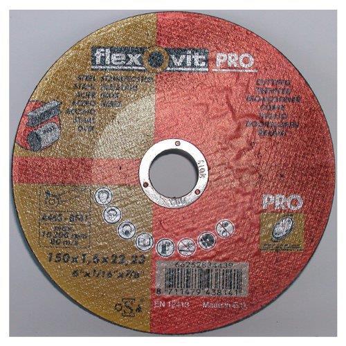 Kotouč řezný Flexovit Pro 1,6x22 FM - 150 Kotouč řezný Flexovit Pro 1,6x22 FM