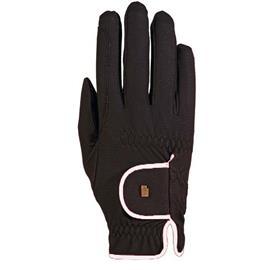 Jezdecké rukavice Roeckl Lona, černo-bílé - vel. 7,5
