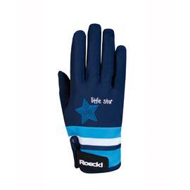 Dětské jezdecké rukavice Roeckl Kelli, modré - vel. 6