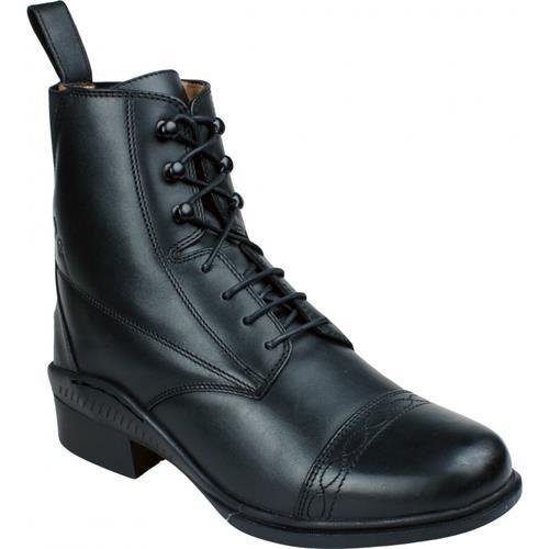 Kožená jezdecká perka QHP Valencia, černá / hnědá - černá, vel. 44 Perka kožená QHP Valencia, černá