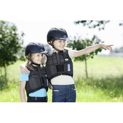 Jezdecká bezpečnostní vesta USG FLEXI - dětská, černá, vel. M Vesta dětská bezp. USG, FLEXI, černá, vel. M