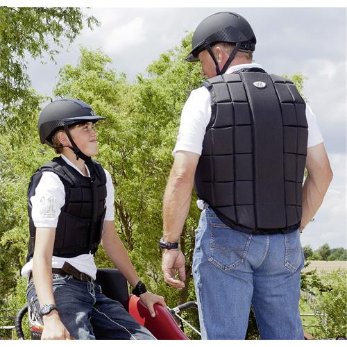 Jezdecká bezpečnostní vesta USG FLEXI - dětská, černá, vel. L Vesta dětská bezp. USG, FLEXI, černá, vel. L