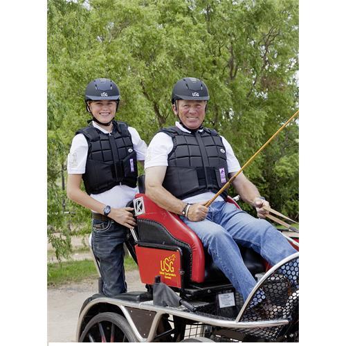 Jezdecká bezpečnostní vesta USG FLEXI - dospělí, černá, vel. XL Vesta bezpečnostní USG, FLEXI, černá, vel. XL