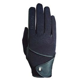 Jezdecké rukavice Roeckl Madison,  černé - vel. 8