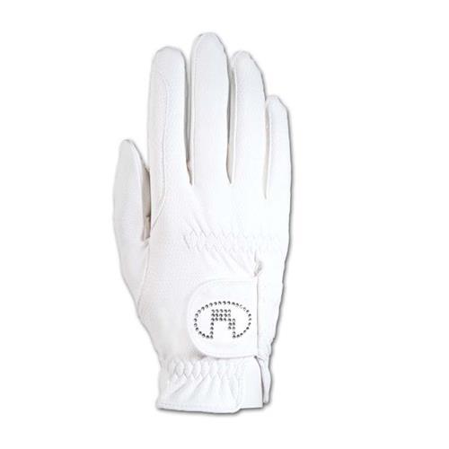 Jezdecké rukavice Roeckl Lisboa Swarowski, bílé - vel. 8 Rukavice Roeckl, Lisboa Swarowski, bílé, vel. 8