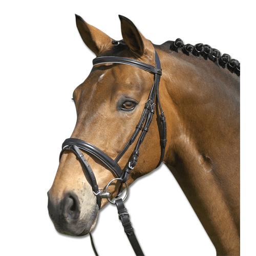 Kožená uzdečka STAR Lifestyle - černo-bílá, vel. Pony Uzdečka STAR Lifestyle černo-bílá, vel. Pony