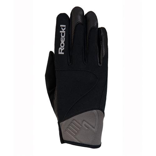 Zimní rukavice Roeckl Wien, černo-šedé - vel. 8 Rukavice Roeckl WIEN, černo-šedé