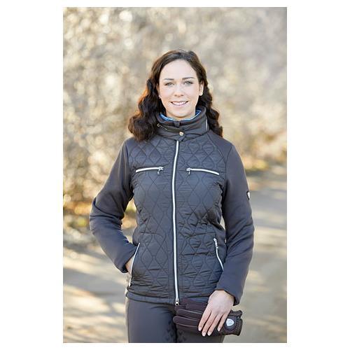 Dámská bunda Covalliero Cecile, tmavě modrá/černá - černá vel. L Bunda Covalliero Cecile, černá, vel. L