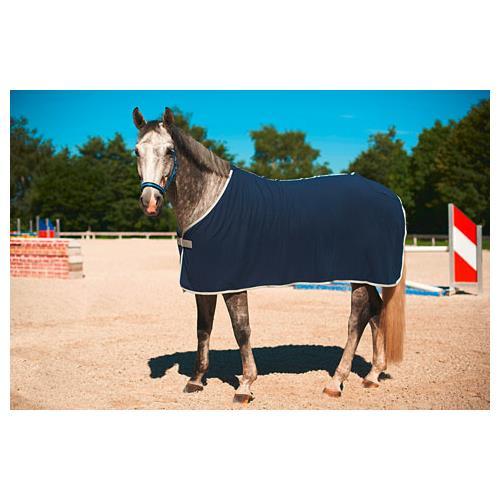 Odpocovací deka Kerbl Economic, modrá s šedým lemem - modrá, vel. 135cm Deka odpoc. Rugbe Economic, modrá, vel. 135cm