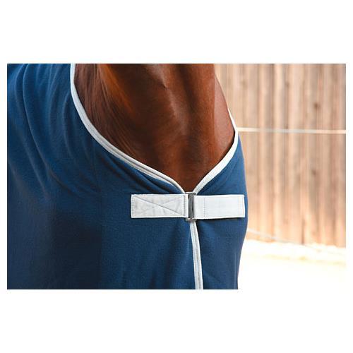 Odpocovací deka Kerbl Economic, modrá s šedým lemem - modrá, vel. 145cm Deka odpoc. Rugbe Economic, modrá, vel. 145cm