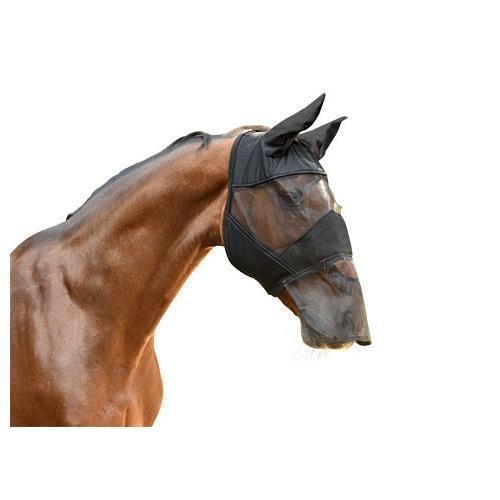 Maska proti hmyzu s krytkou přes nos Covalliero, černá - vel. Cob Maska Kerbl, krytka přes nos, černá, vel. Cob
