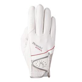 Jezdecké rukavice Roeckl Madrid, bílé - vel. 8,5