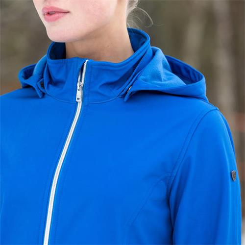 Dámská softsheelová bunda Horze Fredrica - královská modrá, vel. 42 Bunda Horze Fredrica softsheel, modrá, vel. 42