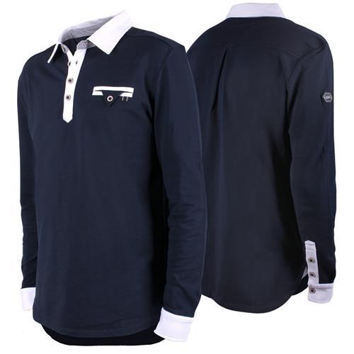Pánská závodní košile QHP Ralph, modrá - vel. 54 Košile pánská závodní QHP Ralph, modrá