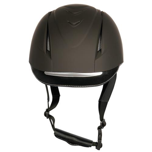 Jezdecká přilba Harrys Horse Challenge - šedo-černá, vel. L/XL Jezdecká přilba Harrys Horse Challenge, černá - čelní pohled