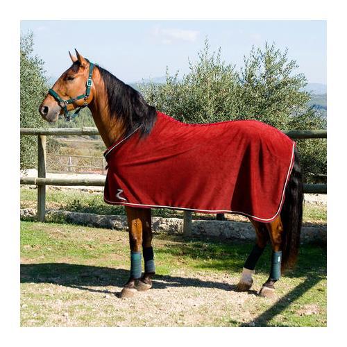 Odpocovací deka Horze, červená / hnědá - červená, vel. 155/205 Deka odpocovací Horze, fleece, vínová