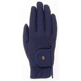 Jezdecké rukavice Roeckl Roeck-Grip, modré - vel. 9
