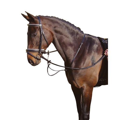 Kožený martingal Harrys Horse - černý, vel. Cob Martingal, COB, černý