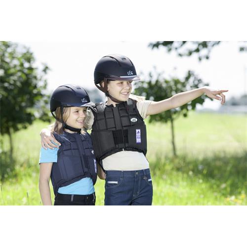 Jezdecká bezpečnostní vesta USG FLEXI - dětská, modrá, vel. L Vesta bezp. dětská USG, FLEXI, modrá