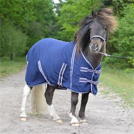 Odpocovací fleesová deka QHP, modrá, vel. Shetty - vel. 70/100 cm