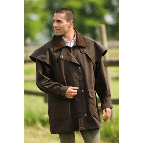 Australský kabát Randol's tříčtvrteční, hnědý - vel. XL Kabát RANDOL´S, hnědý, tříčtvrteční